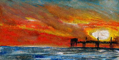 Wooden Platform Painting - 1 Pier by R Kyllo