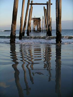 Photograph - Pier Reflections by Keith McGill