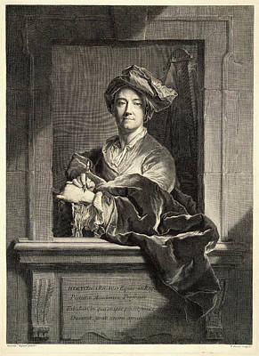 Pierre Drevet French, 1663-1738 After Hyacinthe Rigaud Art Print