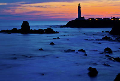 Pigeon Point Lighthouse At Dusk Art Print