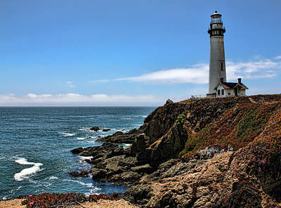 Pigeon Point Lighthouse Art Print by Judy Vincent