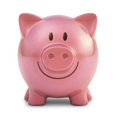 Piggy Bank Art Print by Ktsdesign