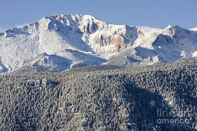 Steven Krull Royalty-Free and Rights-Managed Images - Pikes Peak Snow by Steven Krull