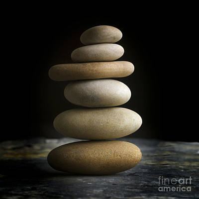 Life Size Photograph - Pile Of Stones. by Bernard Jaubert