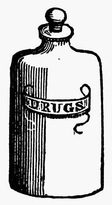 Pill Painting - Pill Bottle, 19th Century by Granger