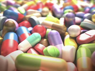 Pills And Tablets Art Print by Ktsdesign