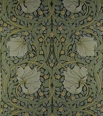 Arts And Crafts Tapestry - Textile - Pimpernel Wallpaper Design by William Morris