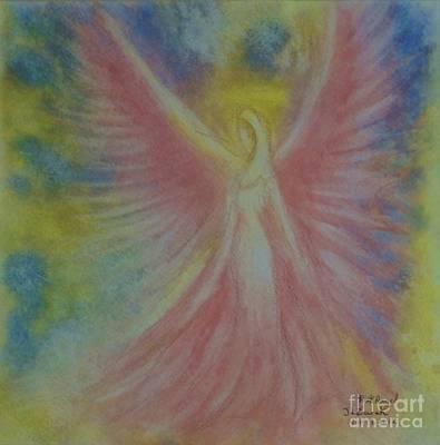 Pink Angel Original by J L Zarek