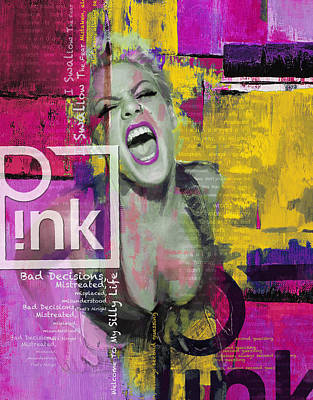 Painting - Pink by Corporate Art Task Force