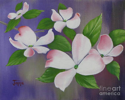 Painting - Pink Dogwoods by Jimmie Bartlett