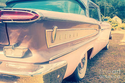 50s Photograph - Pink Ford Edsel  by Edward Fielding