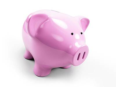 Pink Piggy Bank Art Print