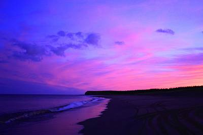 Photograph - Pink Sky And Beach by Jason Lees