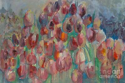Photograph - Pink Tulip Field by Diane montana Jansson