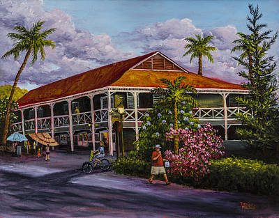 Red Roof Painting - Pioneer Inn Lahaina by Darice Machel McGuire