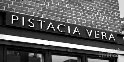 German Village Photograph - Pistacia Vera Sign In The German Village Shop Area Of Columbus O by ELITE IMAGE photography By Chad McDermott