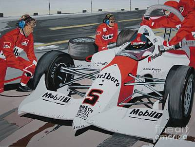 Pit Stop Art Print by Stacy C Bottoms