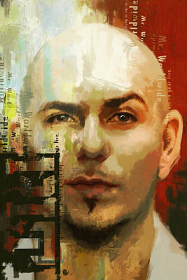 Pitbull Wall Art - Painting - Pitbull by Corporate Art Task Force