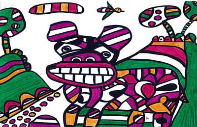 Pitbull Drawing - Pitbull by Don Koester