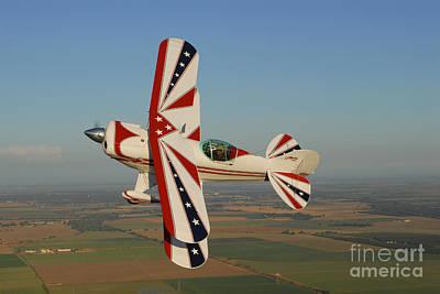 Pitts S-2a Biplane Flying Art Print