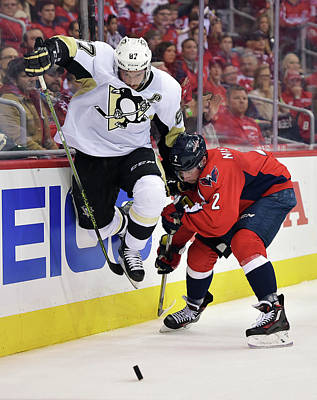 Photograph - Pittsburgh Penguins V Washington by Drew Hallowell