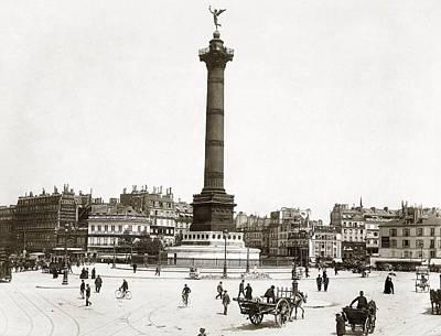 Place De La Bastille Art Print by Granger