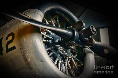 Plane Propeller  Art Print by Paul Ward