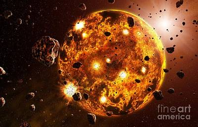 Accreting Photograph - Planetary Formation, Artwork by Take 27 Ltd