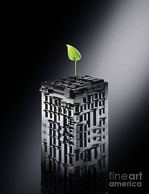 Digitally Manipulated Photograph - Plant Biotechnology, Conceptual Image by Richard Kail