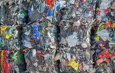 Waste Photograph - Plastic Recycling by Robert Brook