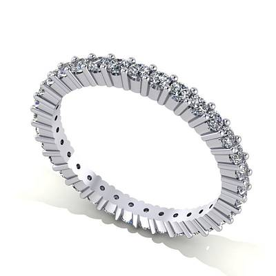 18k Gold Jewelry - Platinum Diamond Eternity Band by Eternity Collection