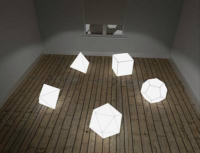 Solid Photograph - Platonic Solids by Robert Brook
