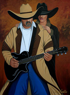 Lance Headlee Painting - Play A Song For Me by Lance Headlee