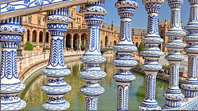 Photograph - Plaza De Espana Seville Spain by Jennifer Wheatley Wolf
