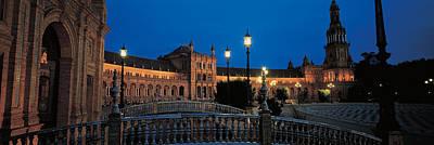 Espana Photograph - Plaza Espana Seville Andalucia Spain by Panoramic Images