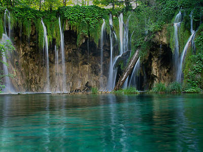 Photograph - Plitvice Waterfall by Don Wolf