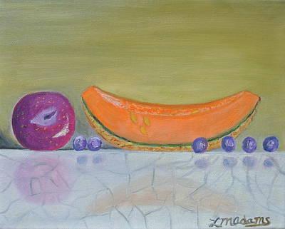 Plum Melon Blueberry Group Original by Lorraine Adams