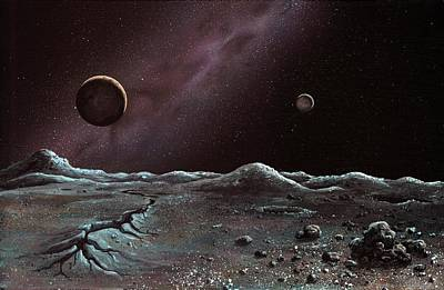 Pluto And Charon From Styx Art Print by Richard Bizley
