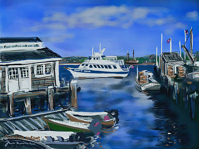 Plymouth Harbor Art Print