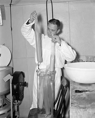 Cellophane Photograph - Pneumonia Vaccine, 1937 by Granger