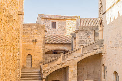 Poblet Monastery Near Barcelona In Catalonia Spain Art Print