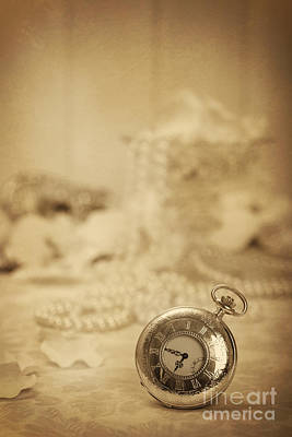 Silver Necklace Photograph - Pocket Watch by Amanda Elwell