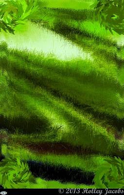 Digital Art - Pocketful Of Sunshine Green by Holley Jacobs