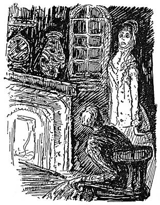 Poe House Of Usher, 1839 Art Print by Granger