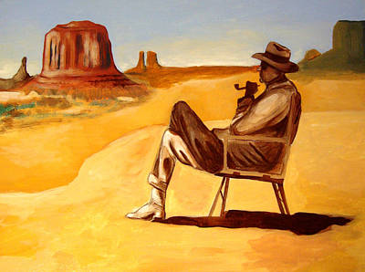 Poet In The Desert Original by Joseph Malham