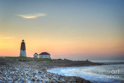 Point Judith Lighthouse Print by Juli Scalzi
