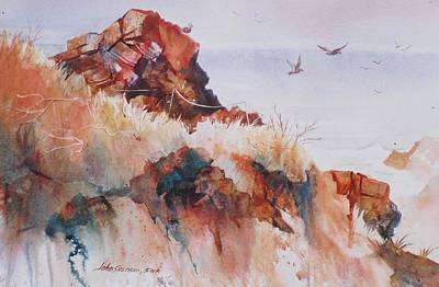Painting - Point Lobos Precipice by John  Svenson