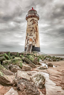 Point Of Ayr Lighthouse Art Print