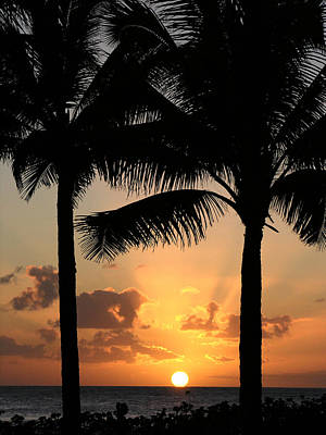 Poipu Beach Sunset Art Print