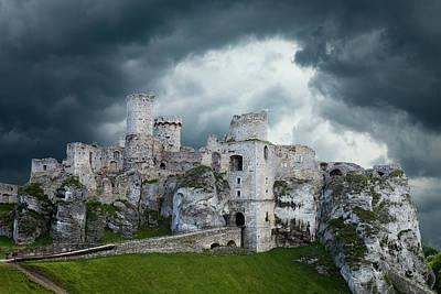 Composite Photograph - Poland Composite Of Ogrodzieniec Castle by Jaynes Gallery